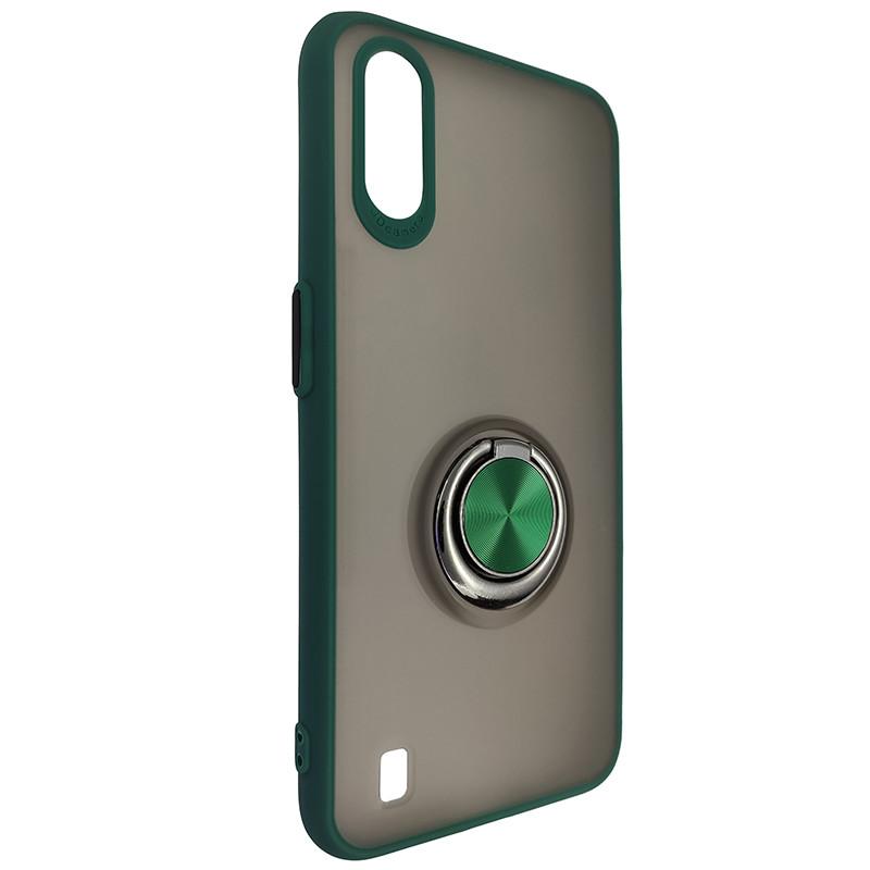Чохол Totu Copy Ring Case Samsung A01 Green+Black - 1