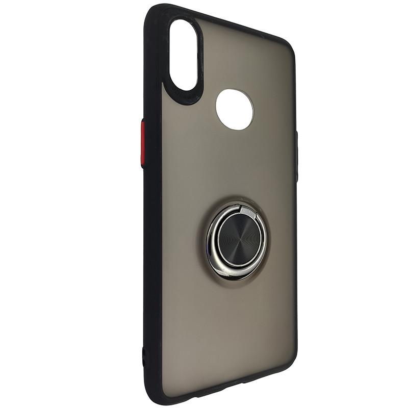 Чохол Totu Copy Ring Case Samsung A10S Black+Red - 1