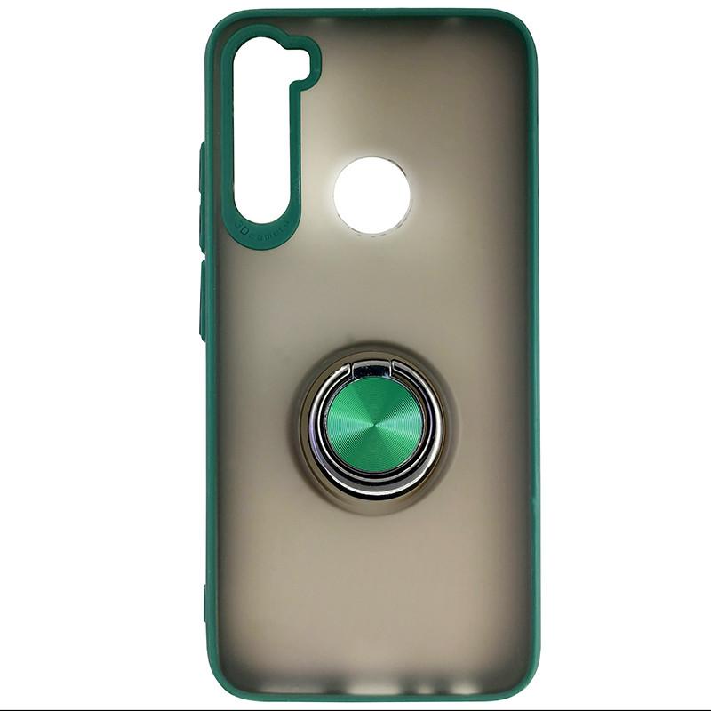 Чохол Totu Copy Ring Case Xiaomi Redmi Note 8 Green+Black - 3