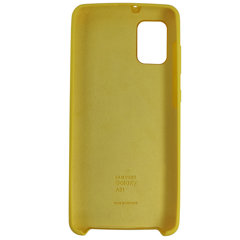 Чохол Silicone Case for Samsung A31 Yellow (4) - 3