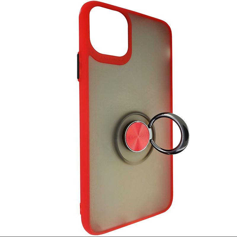 Чохол Totu Copy Ring Case iPhone 11 Pro Max Red+Black - 2