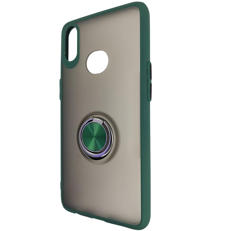 Чохол Totu Copy Ring Case Samsung A10S Green+Black - 3