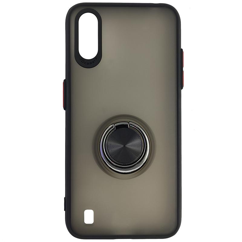Чохол Totu Copy Ring Case Samsung A01 (A015) Black+Red - 4