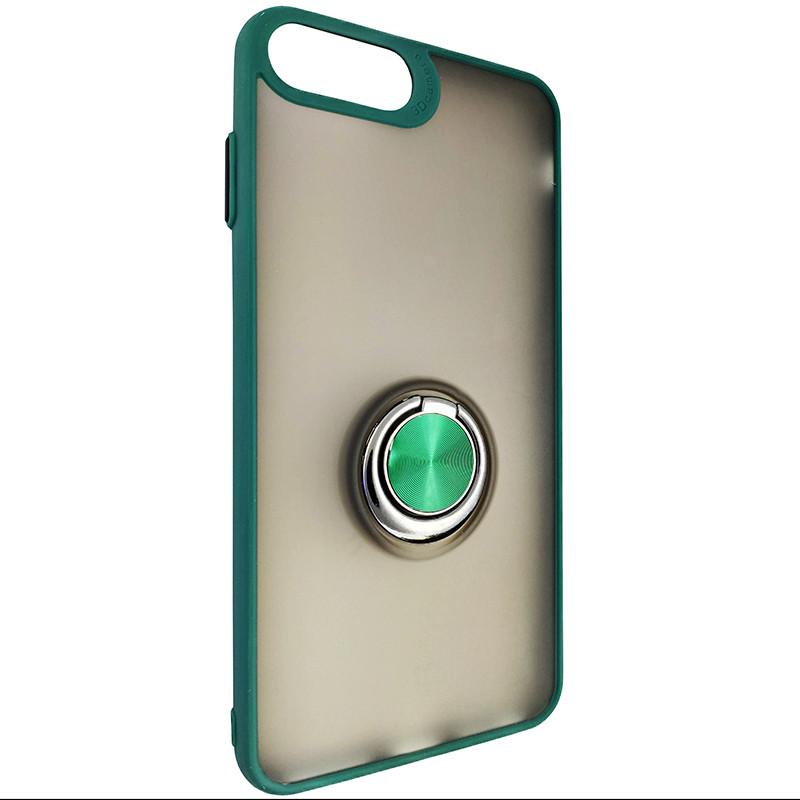 Чохол Totu Copy Ring Case iPhone 6/7/8 Plus Green+Black - 1