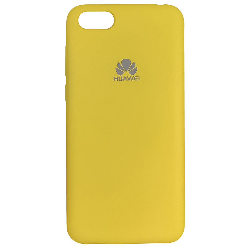 Чохол Silicone Case for Huawei Y5 Prime2018 Yellow (4) - 1