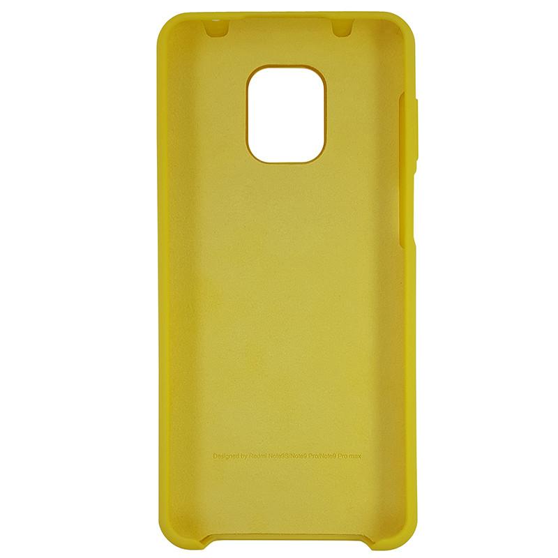 Чохол Silicone Case for Xiaomi Redmi Note 9S/9 Pro Yellow (4) - 3