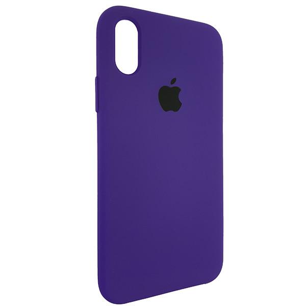 Чохол Copy Silicone Case iPhone X/XS Violet (30) - 1