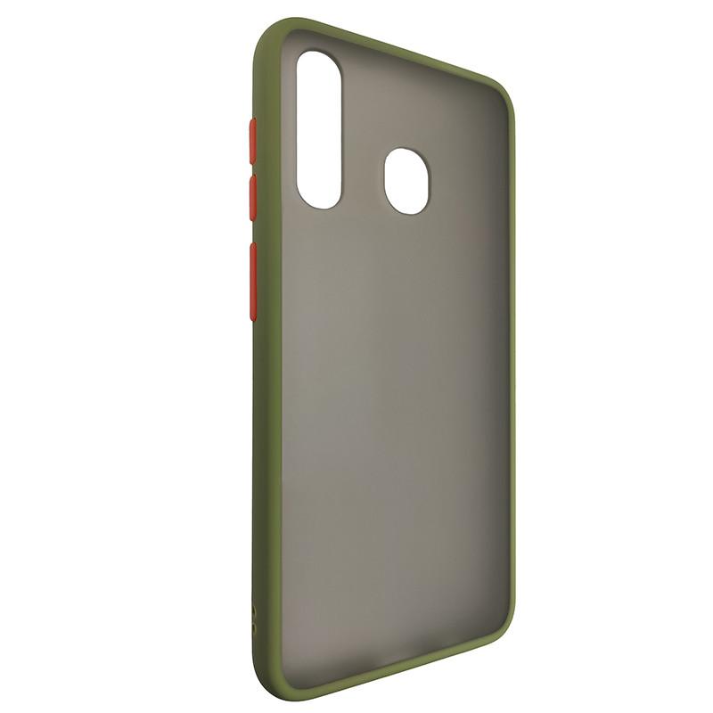 Чохол Totu Copy Gingle Series for Samsung A20/A30 Dark Green+Orange - 1