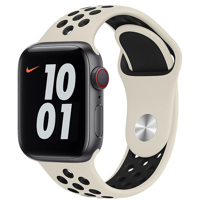 Ремінець для Apple Watch (38-40mm) Nike Sport Band Milk/Black - 2