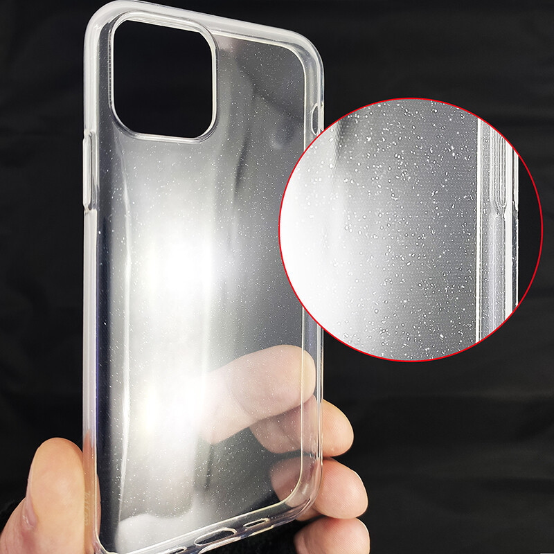 Чохол Molan Cano Silicone Glitter Clear Case iPhone 11 - 1