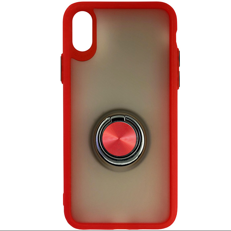 Чохол Totu Copy Ring Case iPhone X/XS Red+Black - 3