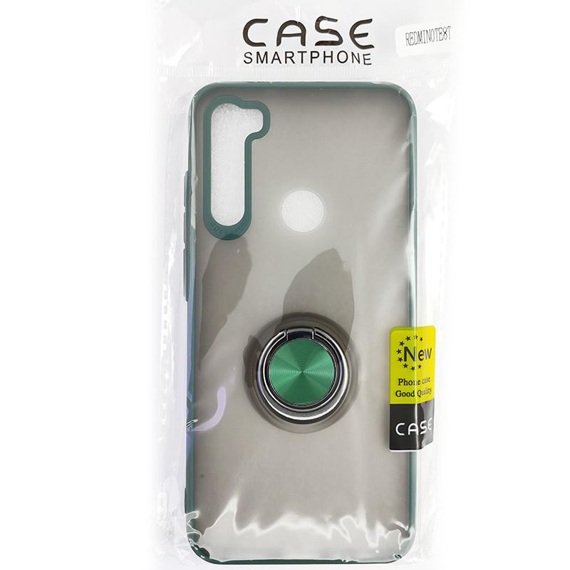 Чохол Totu Copy Ring Case Xiaomi Redmi Note 8T Green+Black - 5