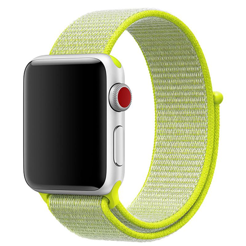 Ремінець для Apple Watch (42-44mm) Sport Loop Green - 2