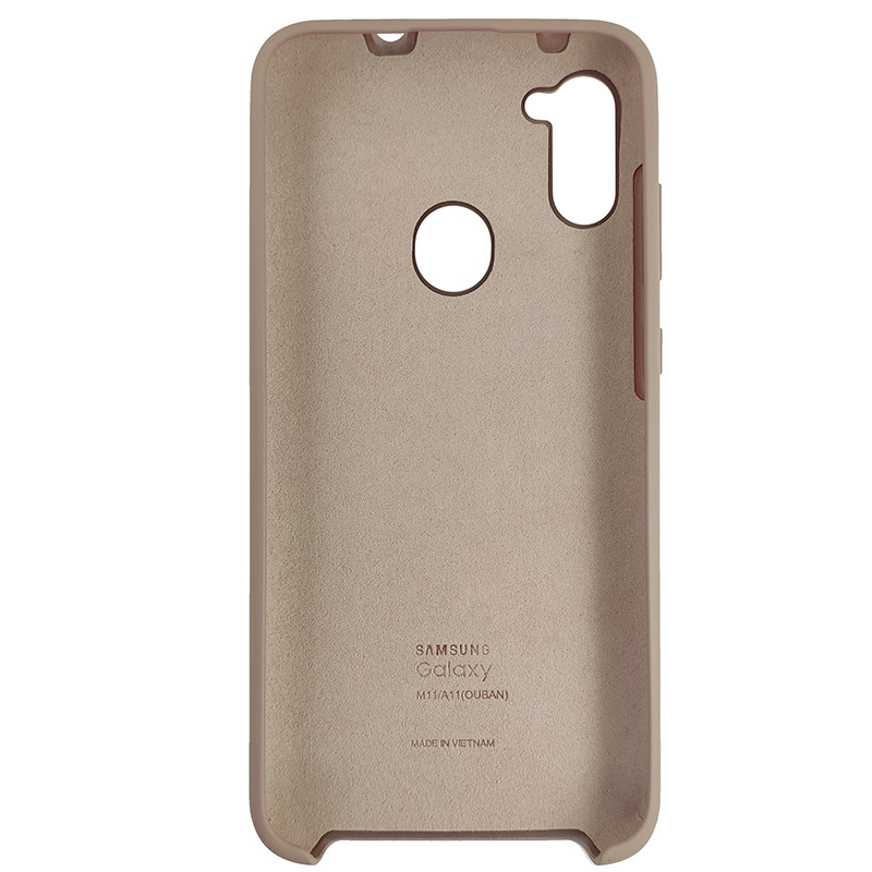 Чохол Silicone Case for Samsung A11/M11 Sand Pink (19) - 3