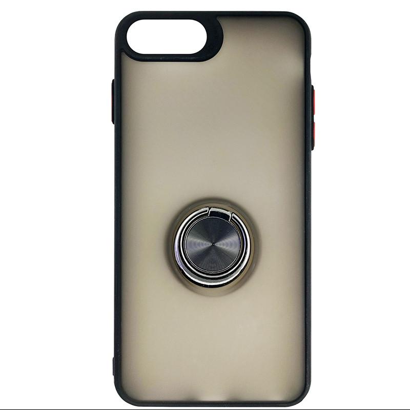 Чохол Totu Copy Ring Case iPhone 6/7/8 Plus Black+Red - 3