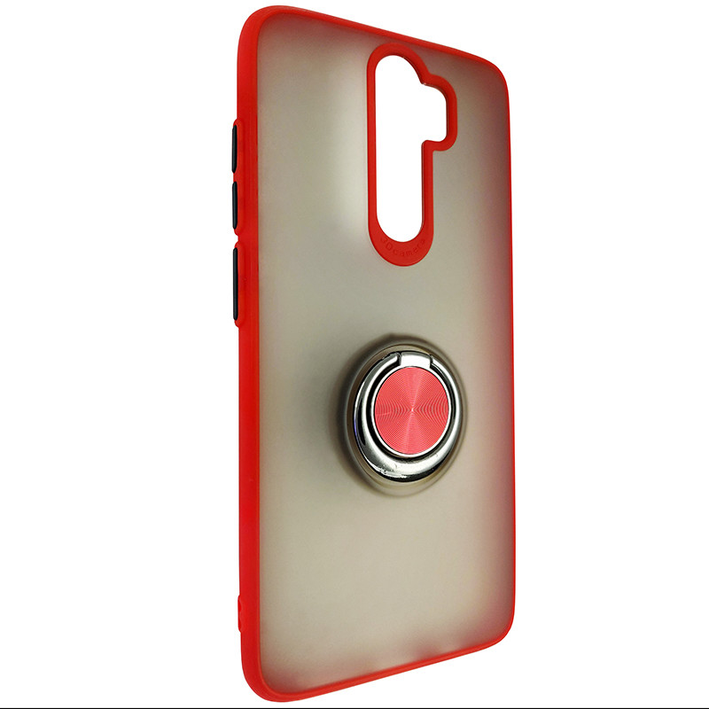 Чохол Totu Copy Ring Case Xiaomi Redmi Note 8 Pro Red+Black - 1