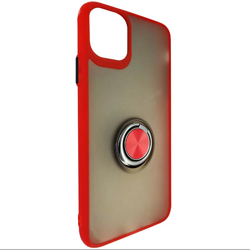 Чохол Totu Copy Ring Case iPhone 11 Pro Max Red+Black - 1