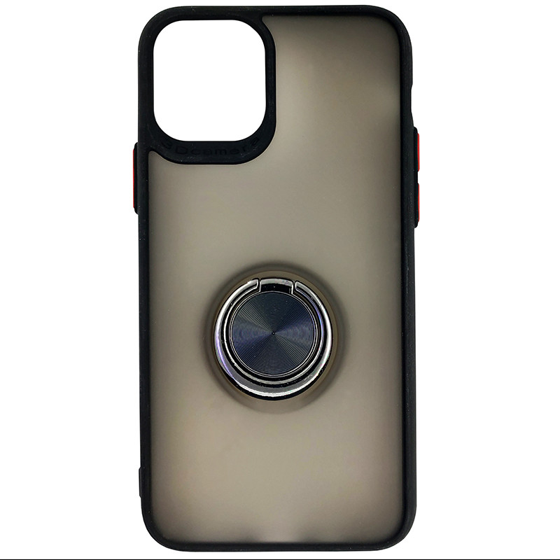 Чохол Totu Copy Ring Case iPhone 11 Pro Black+Red - 3