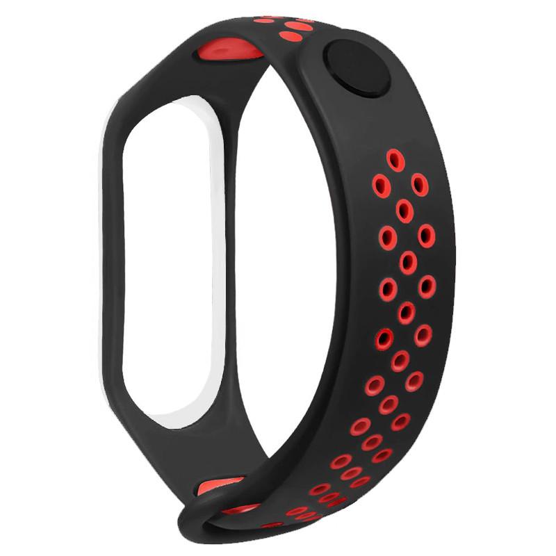 Ремінець для фітнес браслету Mi Band 3/4 Sport Band Nike Black/Red (W) - 2