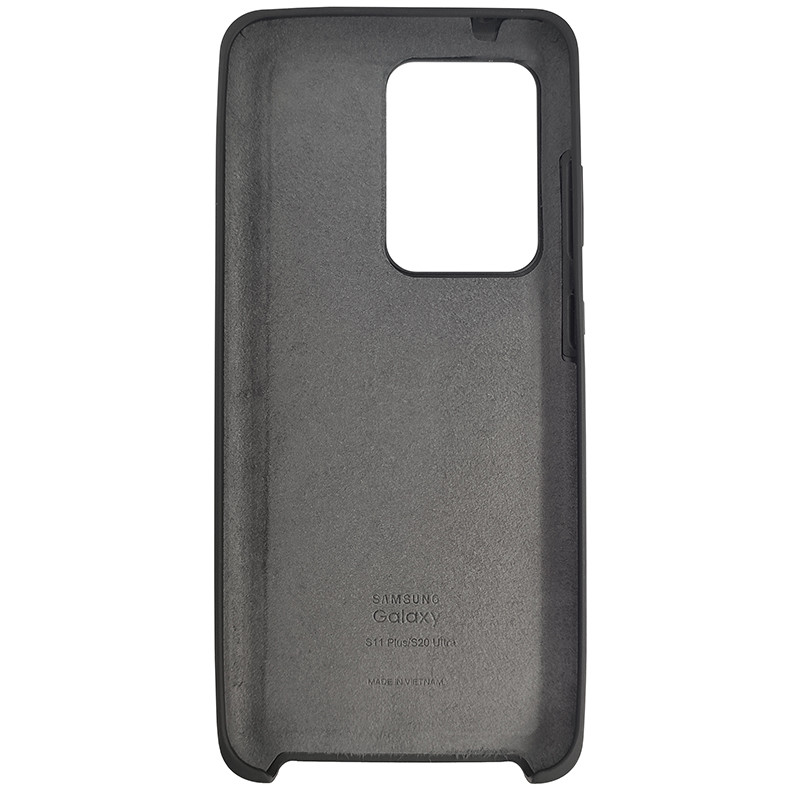 Чохол Silicone Case for Samsung S20 Ultra Black (18) - 3