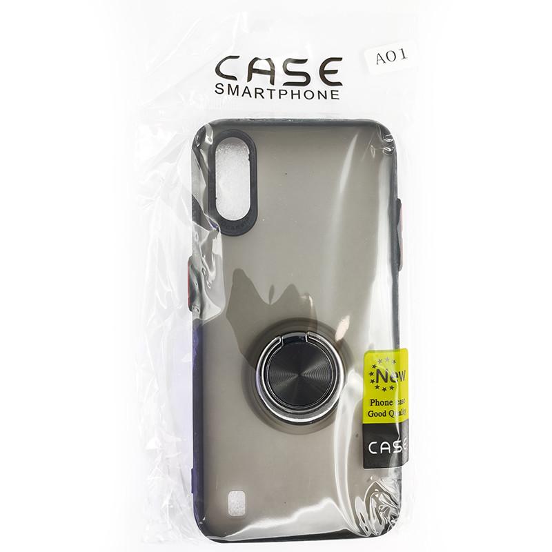 Чохол Totu Copy Ring Case Samsung A01 (A015) Black+Red - 5