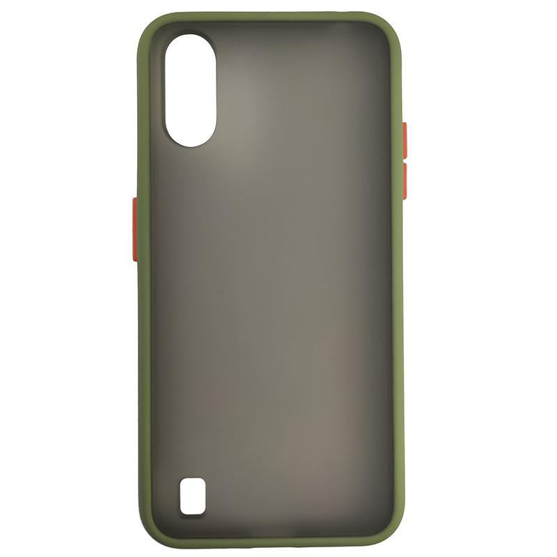 Чохол Totu Copy Gingle Series for Samsung A01 (A015) Dark Green+Orange - 2