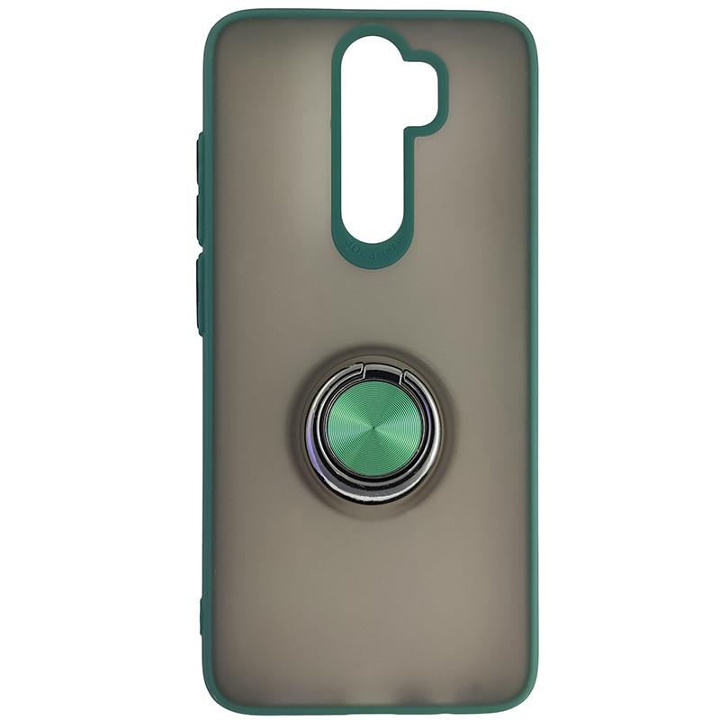 Чохол Totu Copy Ring Case Xiaomi Redmi Note 8 Pro Green+Black - 4