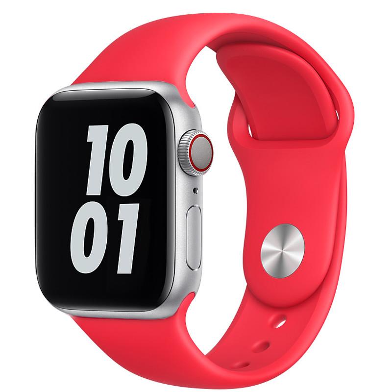 Ремінець для Apple Watch (42-44mm) Sport Band Red (14) - 2