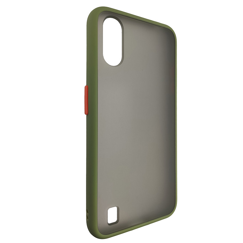 Чохол Totu Copy Gingle Series for Samsung A01 (A015) Dark Green+Orange - 1