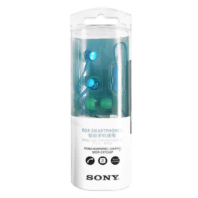 Гарнітура Sony MDR-EX155AP Blue - 3