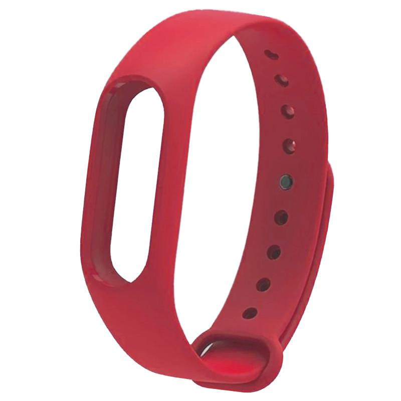 Ремінець для фітнес браслету Mi Band 2 (Silicon) Red - 1