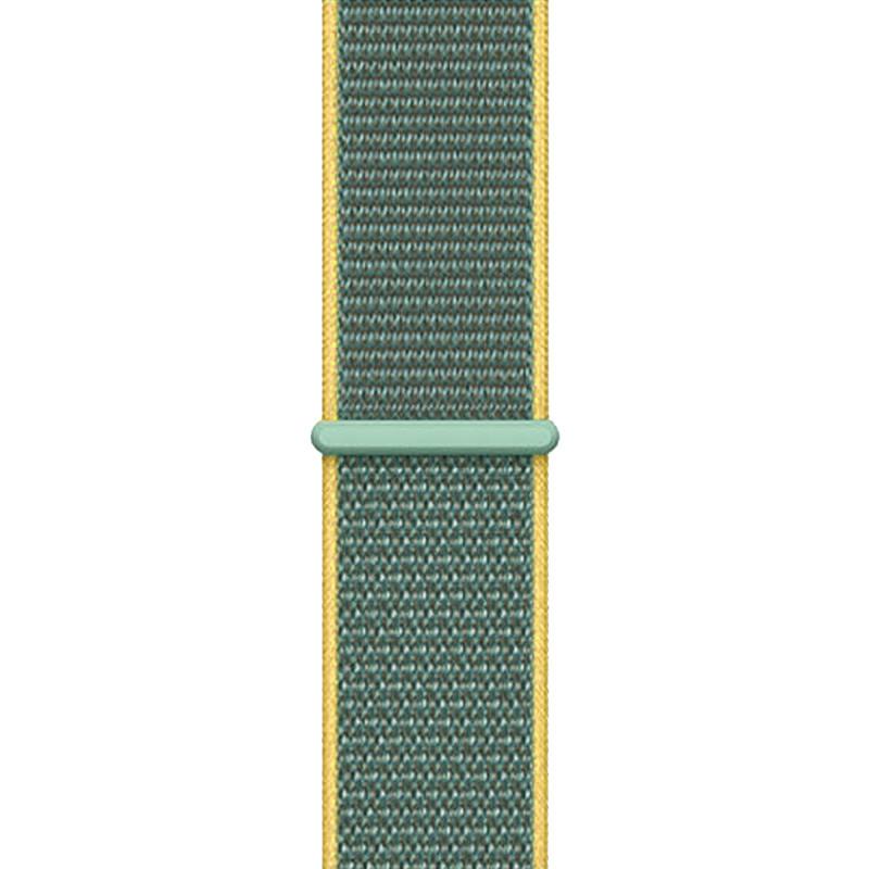 Ремінець для Apple Watch (38-40mm) Sport Loop Nike Yellow/Green - 1