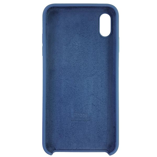 Чохол Copy Silicone Case iPhone XS Max Dark Blue (10) - 4
