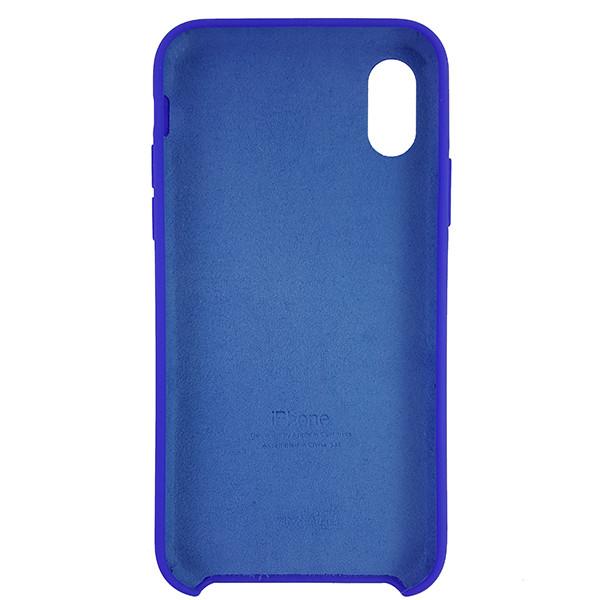 Чохол Copy Silicone Case iPhone X/XS Blue (40) - 4