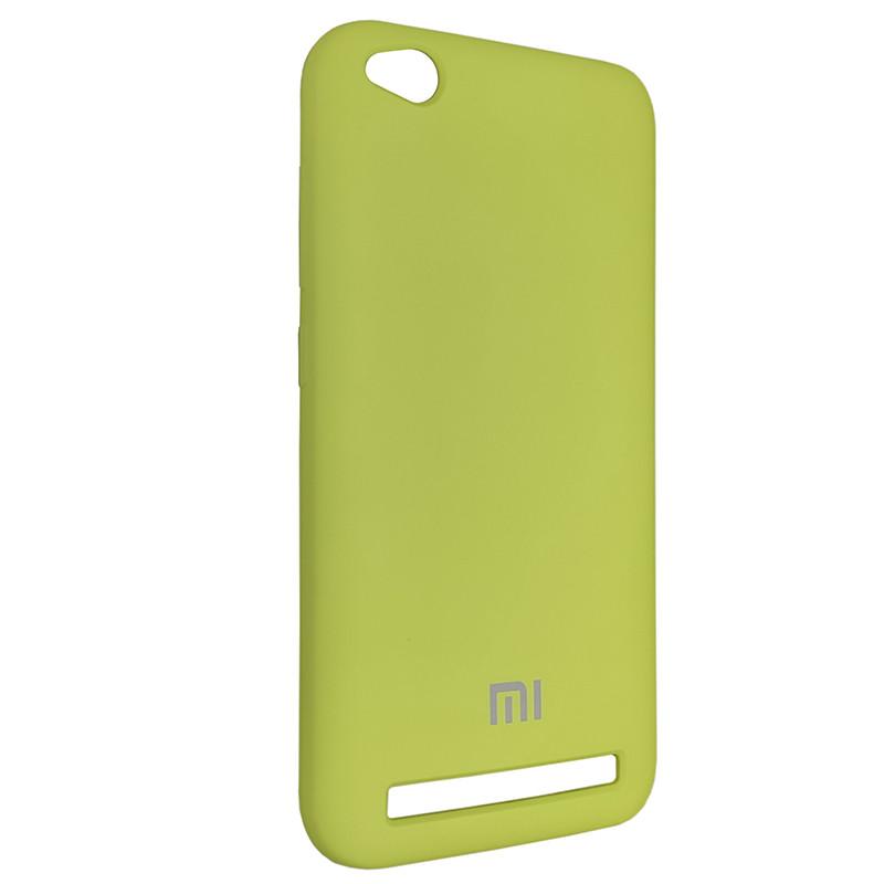 Чохол Silicone Case for Xiaomi Redmi 5A Yellow-Green (34) - 2