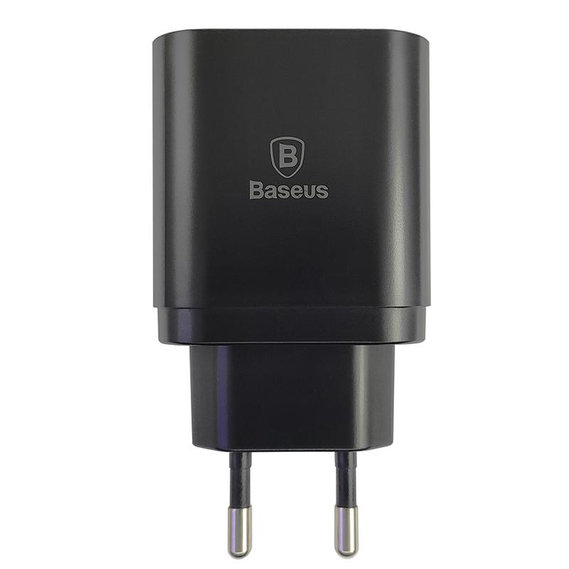 Зарядний пристрій Baseus USB Wall Charger Mirror Lake Intelligent Digital Display 3xUSB Black - 1