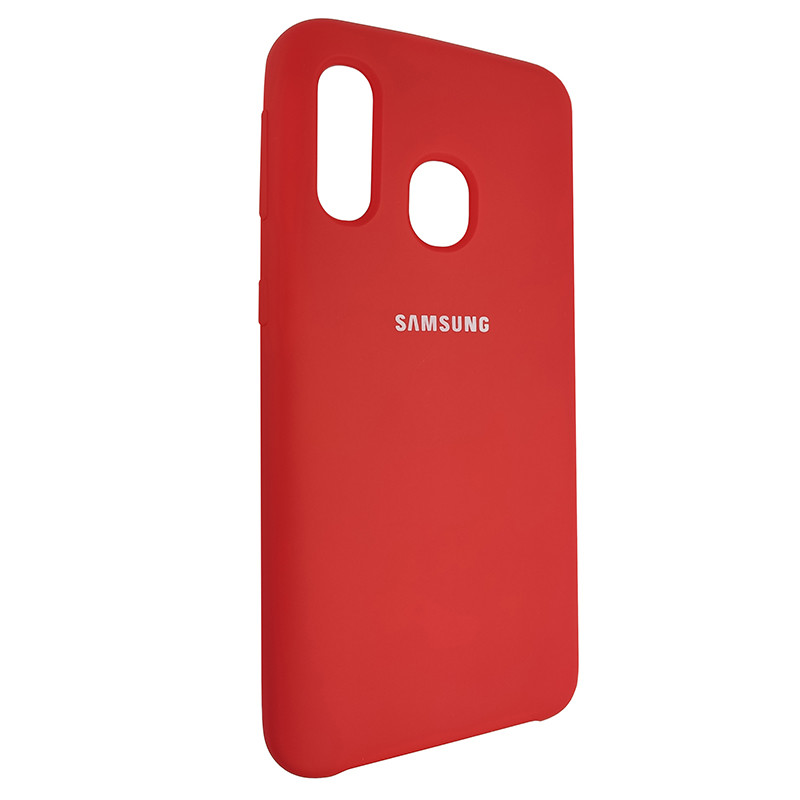 Чохол Silicone Case for Samsung A40 Red (14) - 2