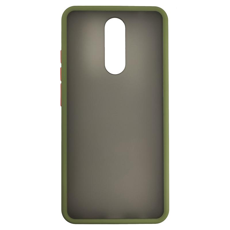 Чехол Totu Copy Gingle Series for Xiaomi 8/8A Dark Green+Orange - 2