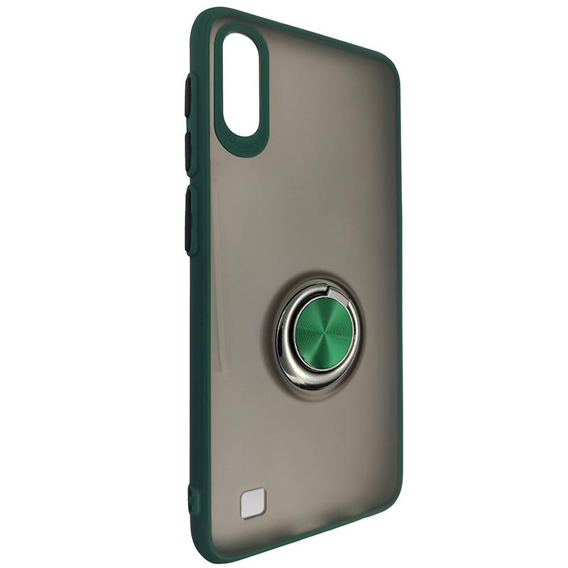 Чохол Totu Copy Ring Case Samsung A10 Green+Black - 1