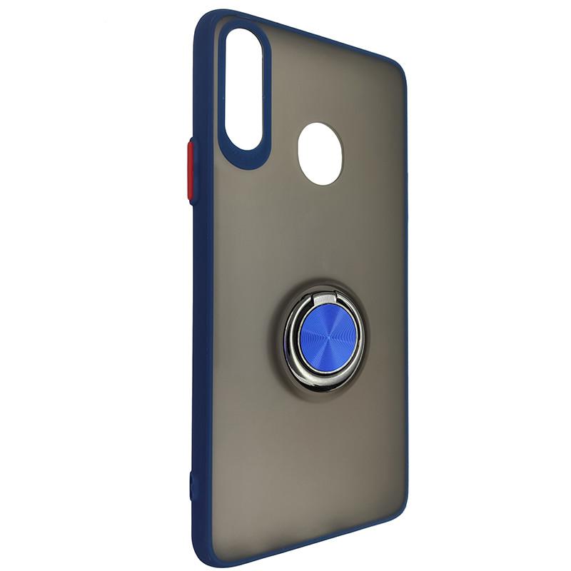 Чохол Totu Copy Ring Case Samsung A20S Blue+Red - 1