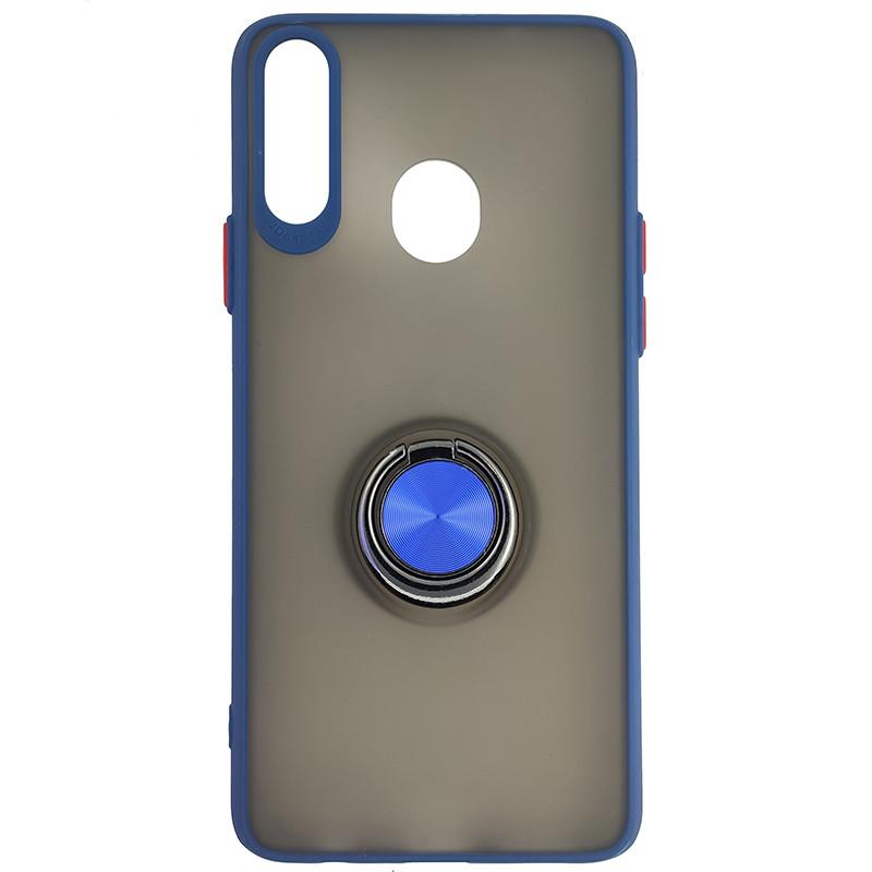 Чохол Totu Copy Ring Case Samsung A20S Blue+Red - 4