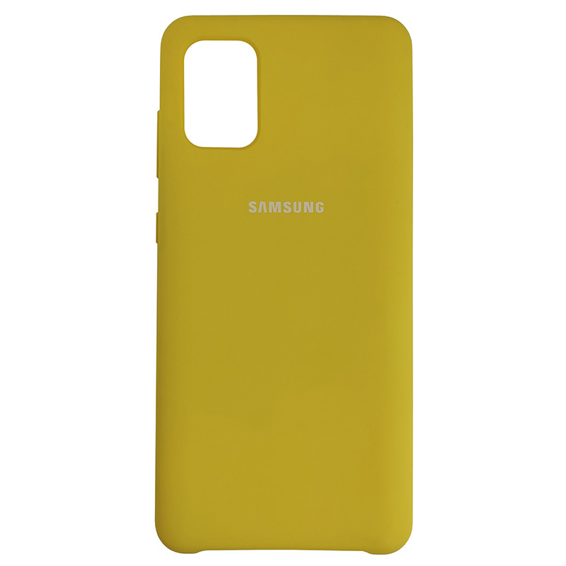 Чохол Silicone Case for Samsung A31 Yellow (4) - 1