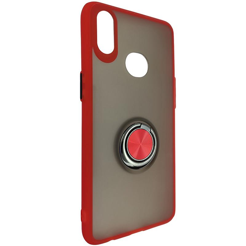 Чохол Totu Copy Ring Case Samsung A10S Red+Black - 1