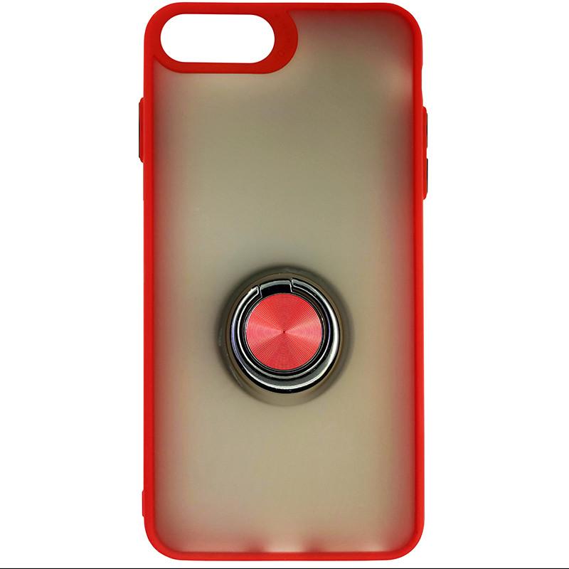 Чохол Totu Copy Ring Case iPhone 6/7/8 Plus Red+Black - 3