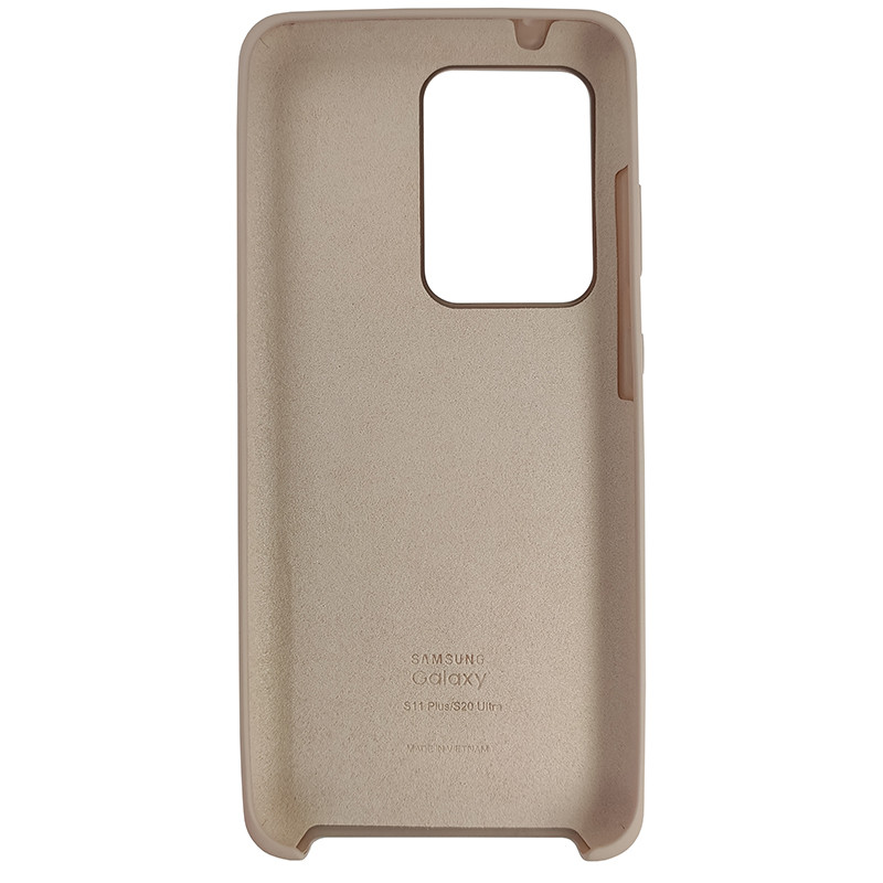 Чохол Silicone Case for Samsung S20 Ultra Sand Pink (19) - 3