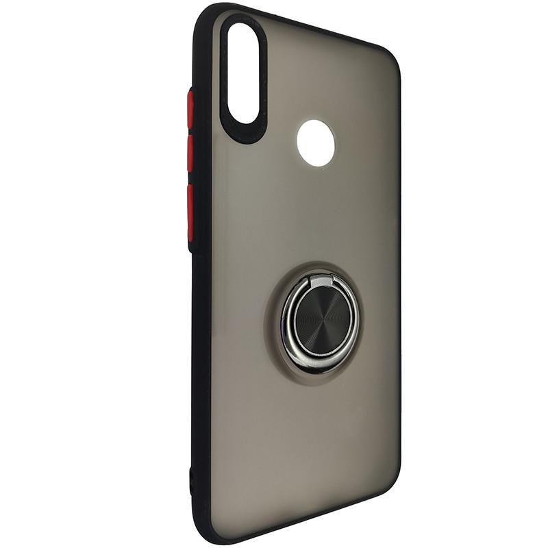 Чохол Totu Copy Ring Case Huawei Y7 2019 Black+Red - 1