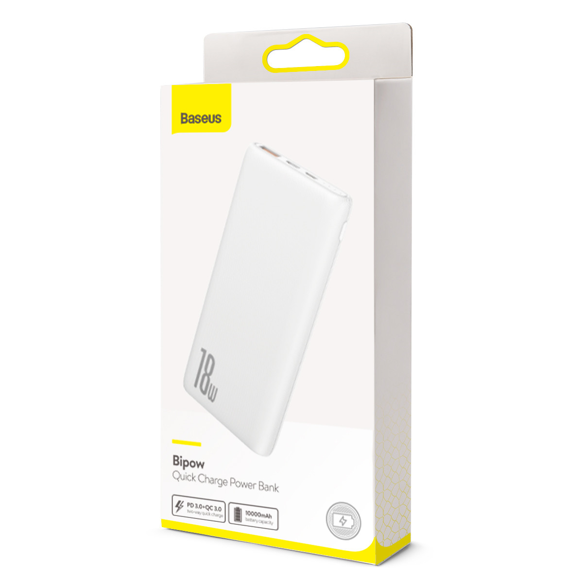 Power Bank Baseus Bipow PD+QC 10000mAh White - 5