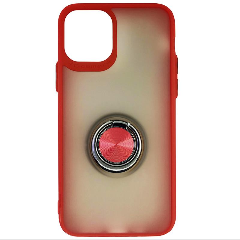 Чохол Totu Copy Ring Case iPhone 11 Pro Red+Black - 3