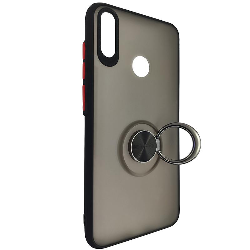 Чохол Totu Copy Ring Case Huawei Y7 2019 Black+Red - 2