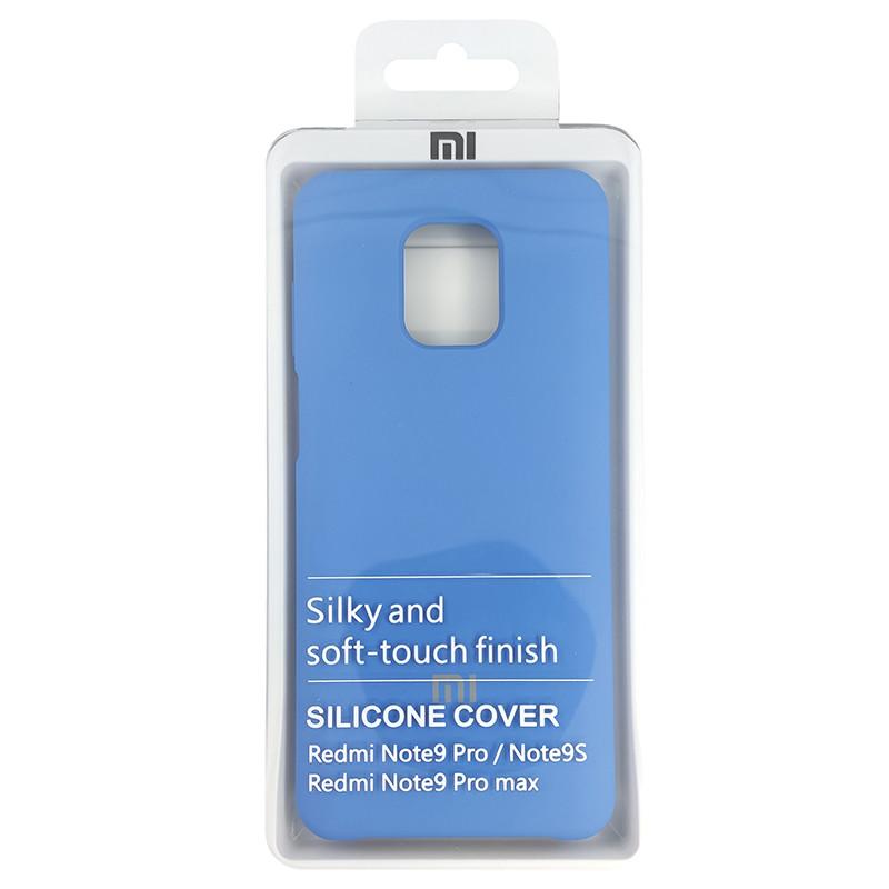 Чохол Silicone Case for Xiaomi Redmi Note 9S/9 Pro Blue (3) - 4
